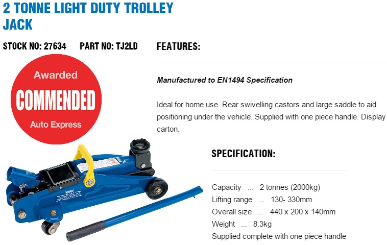 Draper Tools 27634-TJ2LD